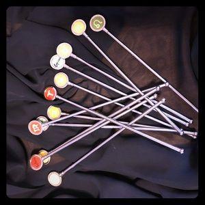 Zodiac swizzle sticks
